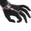 Hand Jewellery Drop Pink Aurora Borealis